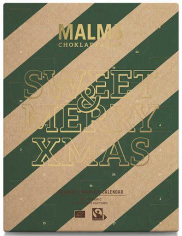 Adventskalender / nötfri chokladkalender 2020 - Malmö Chokladfabrik