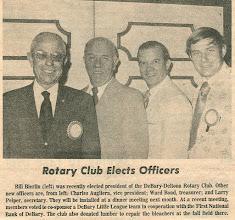 Photo: President Bill Bierlin, Charlie Augliera, Ward Bond, Larry Peiper