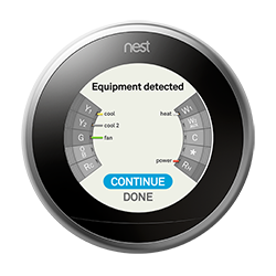 Nest thermostat equipment detected no star