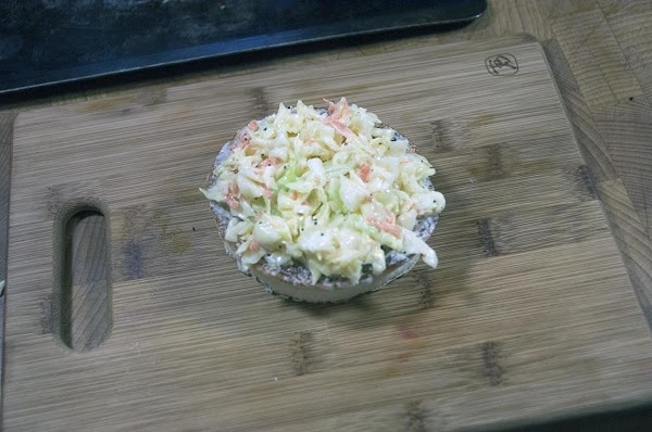 Add the coleslaw.
