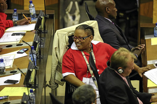 MPL Mandisa Mashego in the Gauteng legislature. She has been elected Gauteng EFF chairperson.