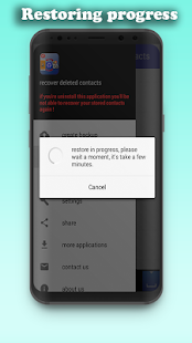 recovery deleted contacts - náhled