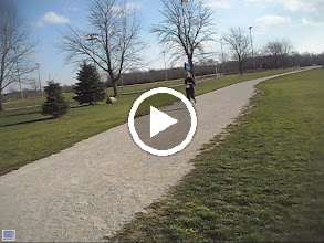Video: 100' away from finish line great job young lady