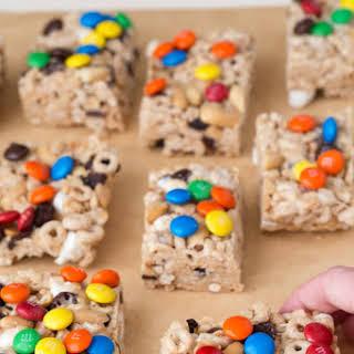 No Bake Trail Mix Cereal Bars.