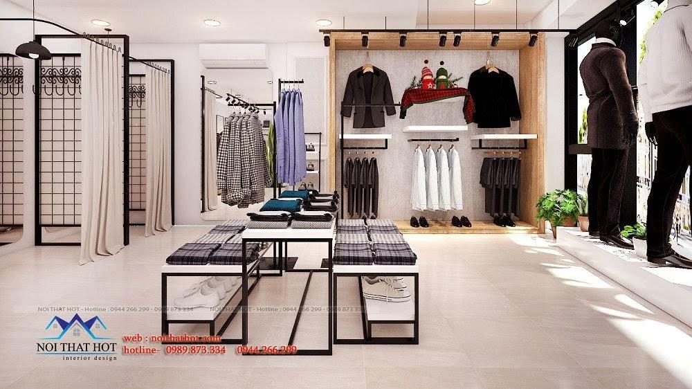 trang trí thiết kế nội thất shop thời trang