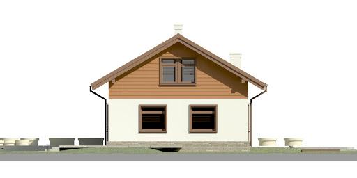 Dom przy Imbirowej 4 - Elewacja lewa