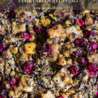 Cornbread and Cranberry Vegetarian Stuffing.