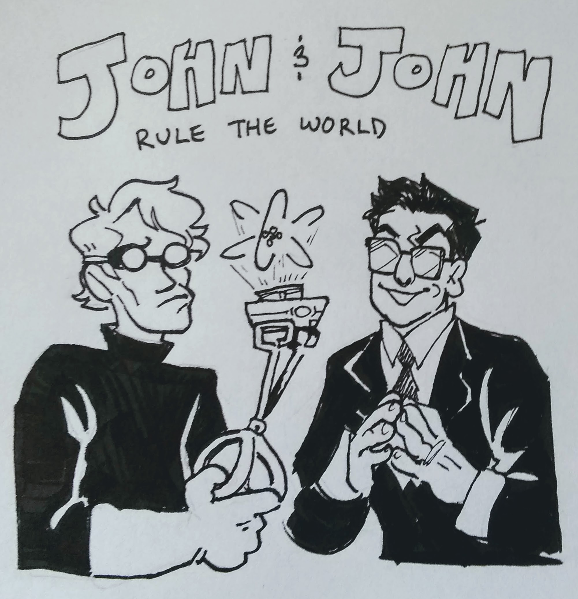 First concept drawing of <a href='xandy.html'>John and John Rule the World</a>.