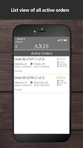 Screenshot for Axis TMS Driver in United States Play Store