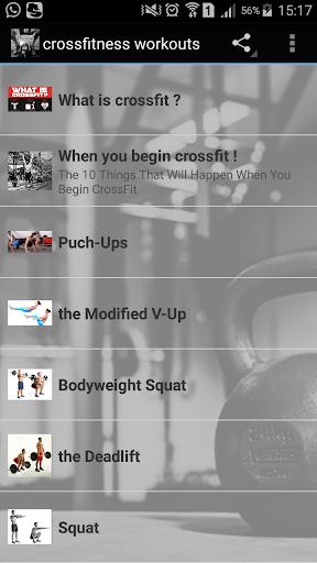 crossfitness workouts screenshot 1