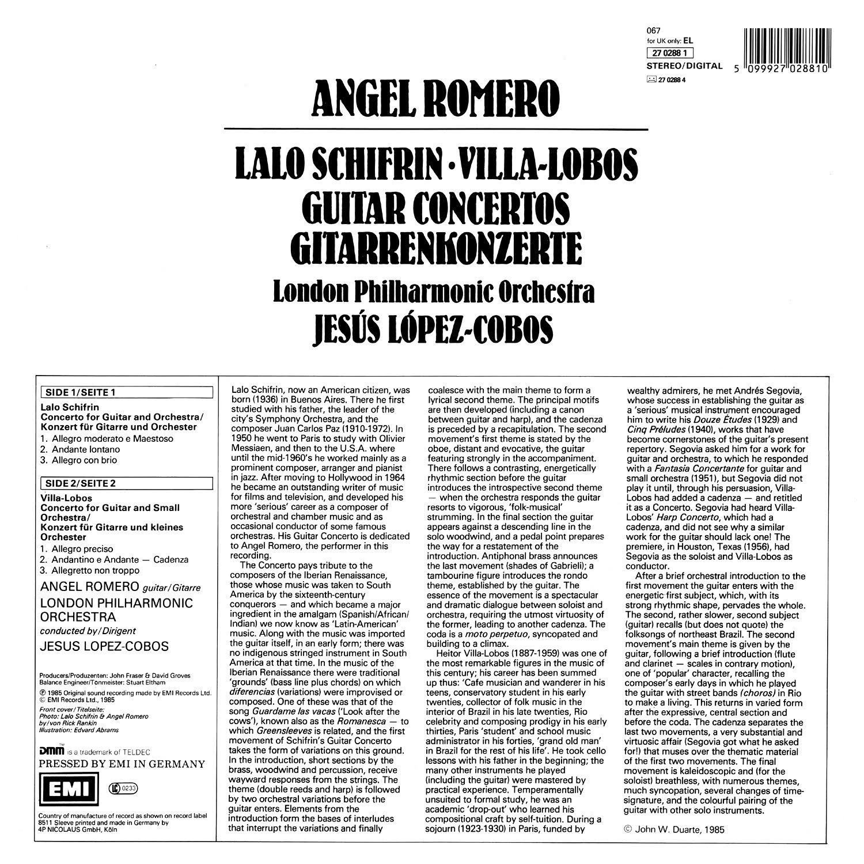 Heitor Villa-Lobos, Lalo Schifrin, Jesús López Cobos