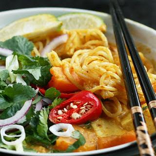 Malaysian Butternut Squash Laksa [Vegan]