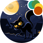 Black Cat Xperia Theme