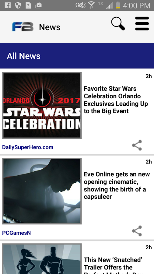 FanBoy: Geek News- screenshot