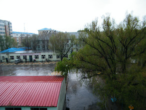 Photo: heaviest rain my decades in Qiqihar, benzrad 朱子卓's second hometown, in summer 2012. familiar nature&weather lets me more hometown sick. here benzrad's dorm's scene during rain.