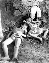 Photo: Việt Cộng, trước đó đã bắn chết 4 trẻ em - tỉnh Gia Định, ngày 26 tháng 3, 1966 - Bốn trẻ em đã bắn chết là nạn nhân của một cuộc tấn công của nhóm Việt Cộng tấn công vào một ngôi làng nhỏ vào thứ Sáu ngày 25 tháng 3 , cách Sài Gòn 10 miles (16 km) về phía bắc. Vào lúc 3:30 pm, trong khi nhóm trẻ em này đang vây xem một số du khách đến thăm thôn làng Dân Trí V. quận Gò Vấp tỉnh Gia Định. Bốn em trai bị sát hại ở độ tuổi 5,6,8 và 12 tuổi, hai người khác cũng bị thương tich và một người phụ nữ. Lực lượng dân quân địa phương phản công ngay sau đó, giết chết năm tên trong đám Việt cộng này. Hai súng tiểu liên, một khẩu súng trường M-1, một khẩu súng trường của Pháp và một khẩu súng máy của Trung Quốc bị tịch thu. Một mìn Claymore cũng được tìm thấy trên xác Công Việt.Làng Dân Trí V nằm ở phía bắc của quận Gò Vấp.Được phát triển qua chương trình xây dựng nông thôn của Chính phủ. http://www.vietnam.ttu.edu/virtualarchive/items.php?item=va004332   Viet Cong who earlier shot 4 young boys -- Gia Dinh Province, March 26, 1966 -- Four young Vietnamese boys were the victims Friday March 25 of an attack on a small village by a band of Viet Cong insurgents, 10 miles (16 kilometers) north of Saigon.; At 3:30 p.m. while a group of children were watching some visitors to the hamlet of Dan Tri V. Go Vap district of Gia Dinh Province, a small band of Viet Cong attached. It shot down the four boys, ages 5,6,8 and 12, wounded two others and also hit a woman.; The local popular Force immediately brought fire against the attacking insurgents, killing five of them. Two sub-machine guns, one M-1 rifle, one French rifle and one Chinese machine gun were captured. One Claymore type mine was also picked up from the Viet Cong bodies.; Dan Tri V is in the northern part of Go Vap District. It has been under the rural construction program of the government. http://www.vietnam.ttu.edu/virtualarchive/items.php?item=va004332