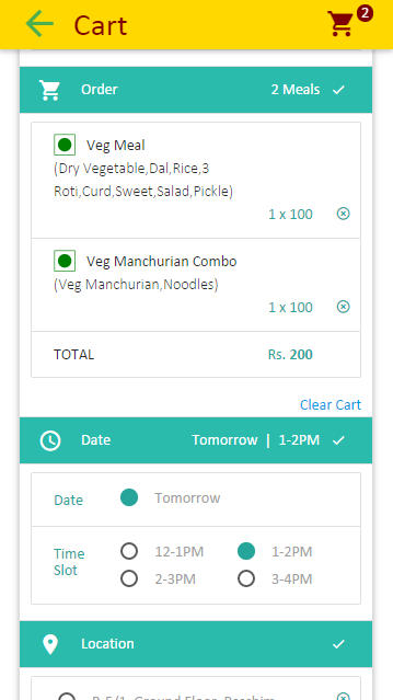 mealaunty - home cooked meals- screenshot