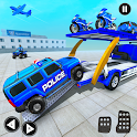 Grand Police Prado Car Transport Truck Games icon
