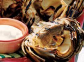 Grilled Artichoke W/ Creamy Butter Dip Recipe