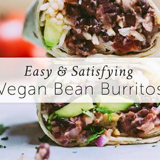 Vegan Bean Burritos.