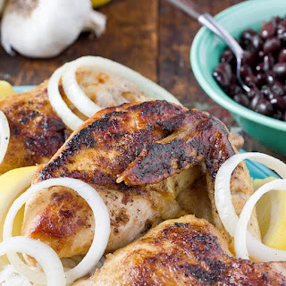 Braised Chicken with Mojo Sauce.