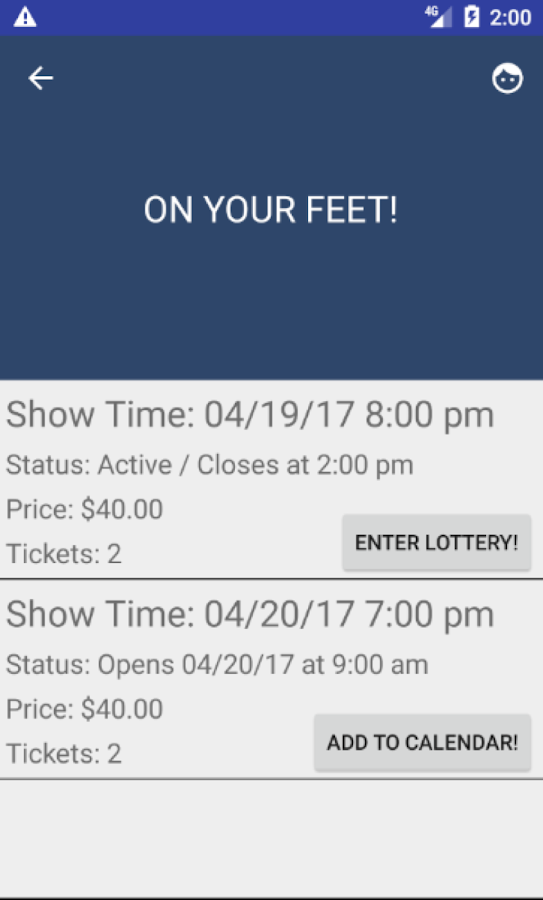 Broadway Lottery- screenshot