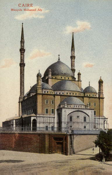 Image - Mosque of Muhammad Ali, Cairo, Egypt (coloured photo), French Photographer, (20th century) / French, Private Collection, (C20th), © Look and Learn / Elgar Collection / Bridgeman Images