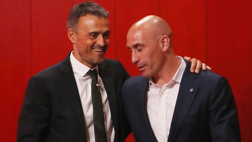 Luis Enrique y Luis Rubiales.