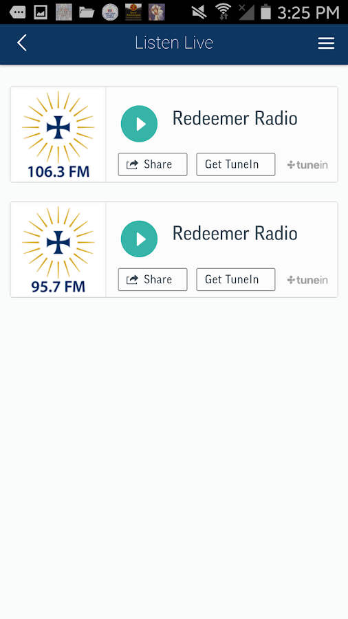 Redeemer Radio- screenshot