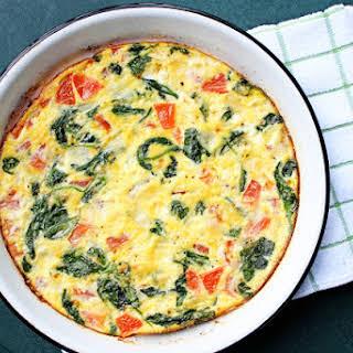 Spinach & Tomato Frittata.