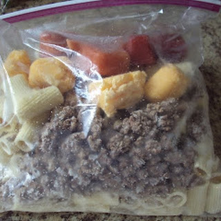 Cheeseburger Pasta- OAMC (Skillet Meal in a Bag)