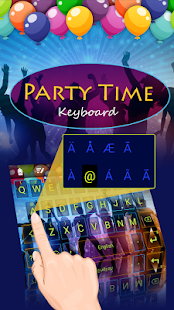 Party Time Theme Keyboard - náhled