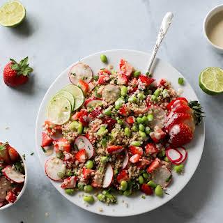 Strawberry Herb Quinoa Salad with Lime Tahini.