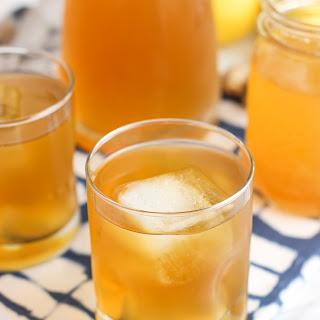 Lemon Ginger Iced Green Tea with Honey.