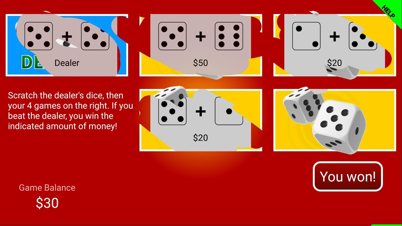 Scratch cards!- screenshot