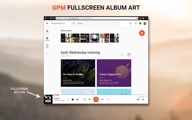 Fullscreen Art for Google Play Music™