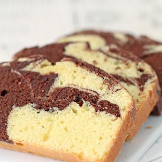 Anna Olson's marble pound cake.