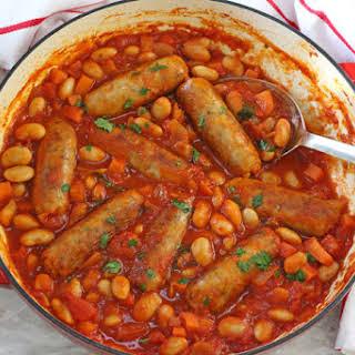 Easy Sausage & Butterbean Casserole.