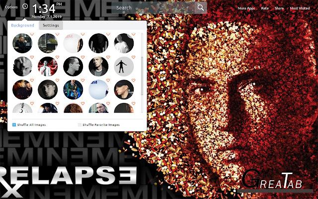 Eminem Wallpapers Theme|GreaTab