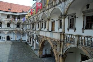 Photo: Krużganki w zamku w Brzegu