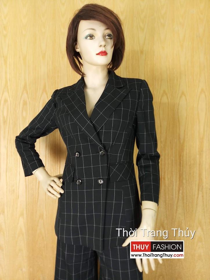 Áo blazer nữ kẻ caro và quần culottes V635 tại Hải Phòng