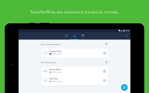 TransferWise Money Transfer – Vignette de la capture d'écran