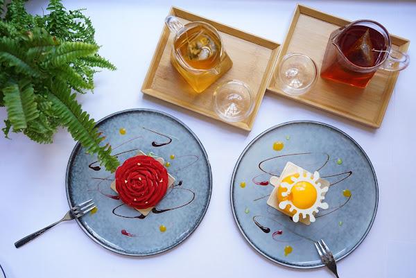 主廚私房甜點很好吃😋 #芒果百香❤️ #玫瑰荔枝❤️