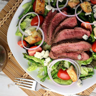 Grilled Steak, Asparagus, and Blue Cheese Salad.