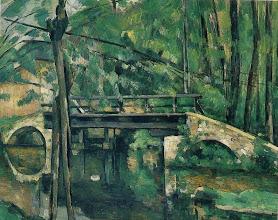Photo: Le pont de Maincy, peinture de Paul Cézanne (19e siècle).  Painting of Maincy bridge by Paul Cézanne (19e century)
