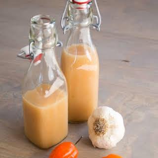 Garlic-Habanero Hot Sauce.