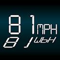 Simple Speedometer White HUD icon
