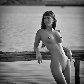 Mary by Andrey Stanko - Nudes & Boudoir Artistic Nude ( stanko, b&w, nude, naked, beauty )