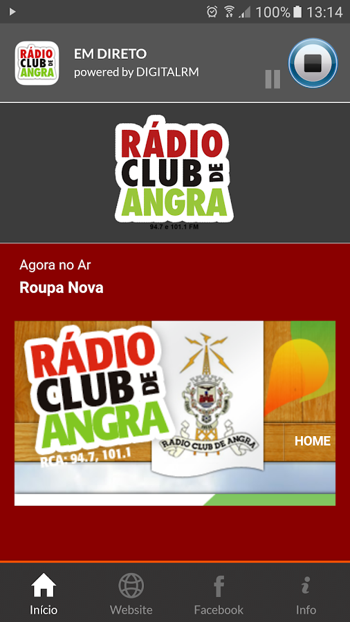 Rádio Club de Angra- screenshot