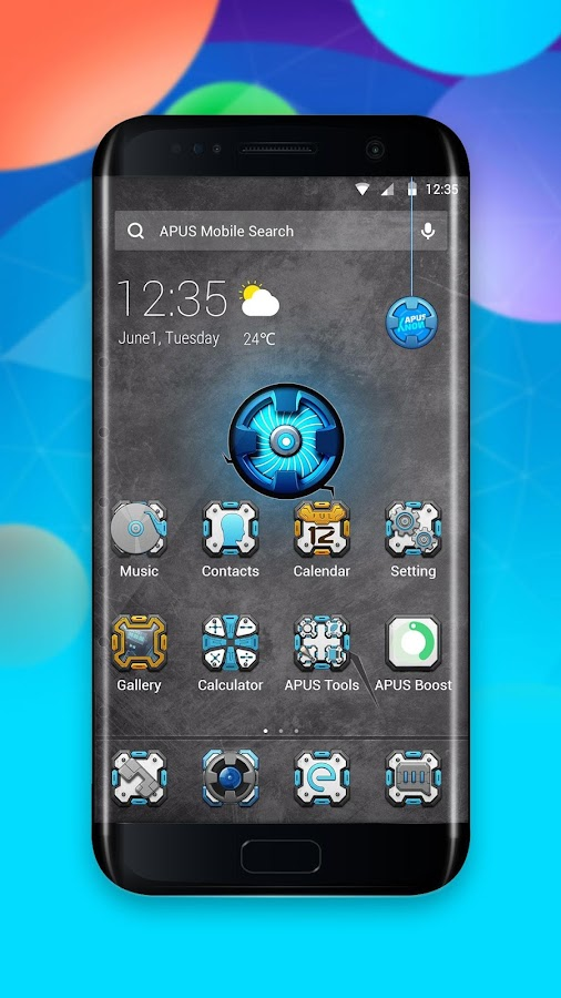 Arsenal-APUS Launcher theme- screenshot